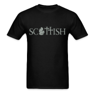 T-Shirts ~ Men's T-Shirt ~ Scottishigan - Black w/ Silver