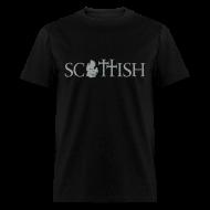 T-Shirts ~ Men's T-Shirt ~ Scottishigan - Black w/ Silver