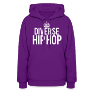 Hoodies ~ Women's Hooded Sweatshirt ~ DHH Crown (Womens / White)
