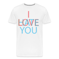 T-Shirts ~ Men's Premium T-Shirt ~ Love/Hate 3d
