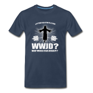 T-Shirts ~ Men's Premium T-Shirt ~ WWJD? What Would Jesus Deadlift?