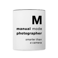 Bottles & Mugs ~ Contrast Coffee Mug ~ M = smarter than a camera