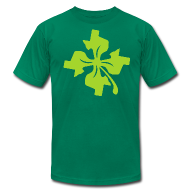 T-Shirts ~ Men's T-Shirt by American Apparel ~ Four Leaf Texas