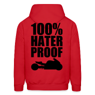 Hoodies ~ Men's Hooded Sweatshirt ~ S&S HATER PROOF BLACK