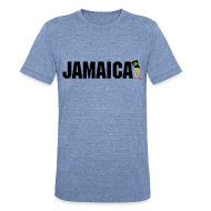 T-Shirts ~ Men's Tri-Blend Vintage T-Shirt ~ Mens Jamaica T-shirt