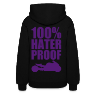Hoodies ~ Women's Hooded Sweatshirt ~ S&S HATER PROOF PURPLE