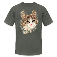 T-Shirts ~ Men's T-Shirt by American Apparel ~ Artistic Cat
