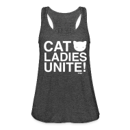 Tanks ~ Women's Flowy Tank Top by Bella ~ Cat Ladies Unite!