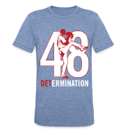 T-Shirts ~ Men's Tri-Blend Vintage T-Shirt ~ DETermination - Men's Athletic Tee