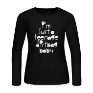 Long Sleeve Shirts ~ Women's Long Sleeve Jersey T-Shirt ~ TEENAGE DIRTBAG