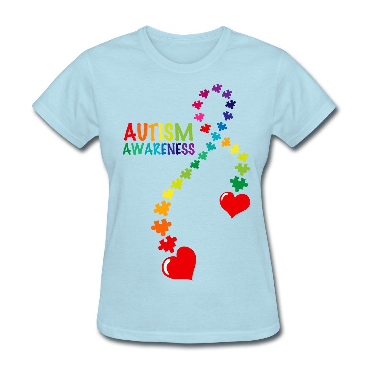 t shirts printing spreadshirt autism awareness ribbon
