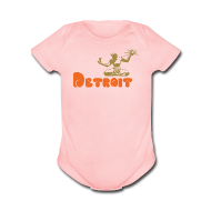 Baby & Toddler Shirts ~ Baby Short Sleeve One Piece ~ Spirit of Detroit