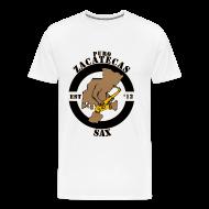 T-Shirts ~ Men's Premium T-Shirt ~ Puro Zacatecas Sax #1 | Caballero