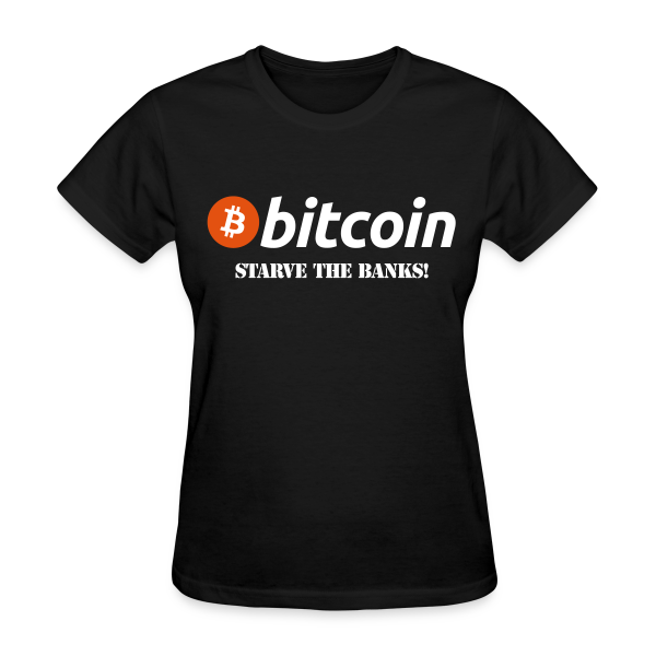 Bitcoin Starve The Banks Black T Shirt