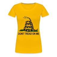 Women's T-Shirts ~ Women's Premium T-Shirt ~ Dont Tread On Me - Women's