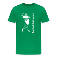 T-Shirts ~ Men's Premium T-Shirt ~ T-Shirt QB-on-the-run white-on-green