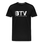 Burlington Airport Code Vermont BTV Fitted T-Shirt