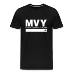 Martha's Vineyard airport code MVY men's t-shirt black solid design