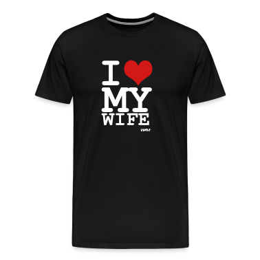 Black i love my wife by wam T-Shirts