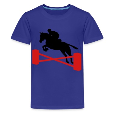 Royal blue showjumping Kids' Shirts