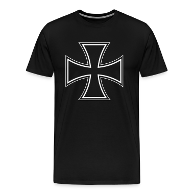 Black iron cross T-Shirts