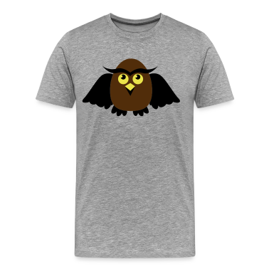 Heather grey owl with wings cute T-Shirts