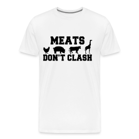 Meats Don't Clash White T-Shirt (Men's) ~ 1850
