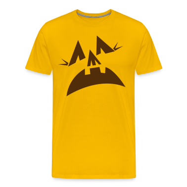 Gold Halloween scary pumpkins face scream T-Shirts