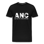 Anchorage airport code United States  ANC  black t-shirt