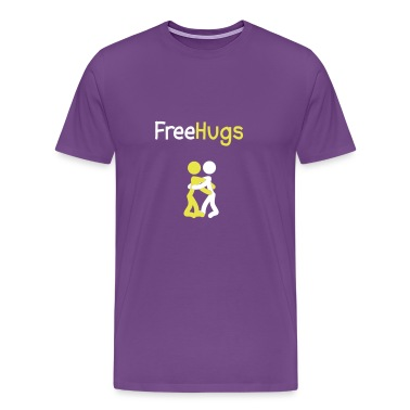 Purple Free Hugs People T-Shirts