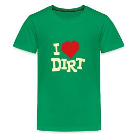 """I Heart Dirt"" Kids Green ~ 1846"