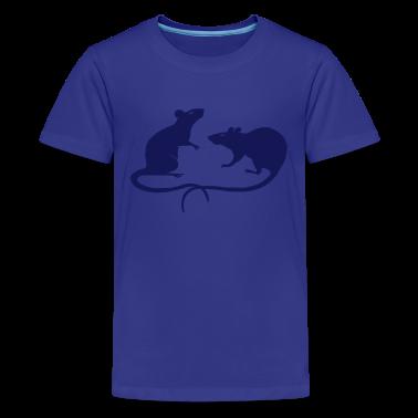 rat rats mouse mice ratty Kids' Shirts