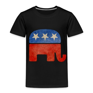 Grunge Republican Elephant Toddler Shirts