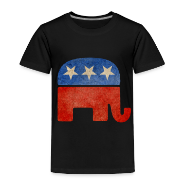 Grunge Republican Elephant Toddler Shirts