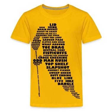 Language of Hockey (black print) Kids' Shirts