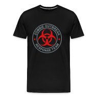 T-Shirts ~ Men's Premium T-Shirt ~ 1-ULogo-M3XL-Full (Silver & Red)