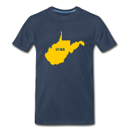 T-Shirts ~ Men's Premium T-Shirt ~ West BY GOD Virginia