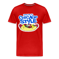 T-Shirts ~ Men's Premium T-Shirt ~ Chicago Style Hot Dog