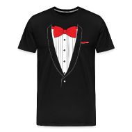 T-Shirts ~ Men's Premium T-Shirt ~ Tuxedo T Shirt Classic Red Tie