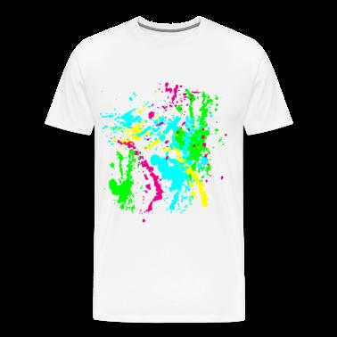 Colors Paint Splatter - Unisex Graffiti Spatter Graphic Design - Multicolor