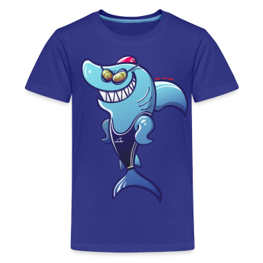 Olympic Swimmer Shark Kids' Shirts
