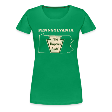 Pennsylvannia, The Keystone State women's vintage T