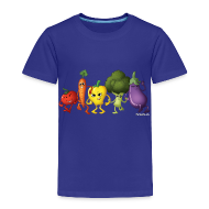 Baby & Toddler Shirts ~ Toddler Premium T-Shirt ~ Toddler Veggie Rainbow T-Shirt