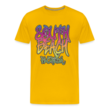 South Beach Graffiti Heavyweight T-Shirt