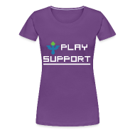 Women's T-Shirts ~ Women's Premium T-Shirt ~ I Play Support