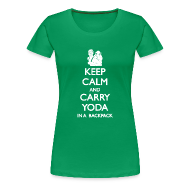 Women's T-Shirts ~ Women's Premium T-Shirt ~ Keep Calm and Carry Yoda Ladies