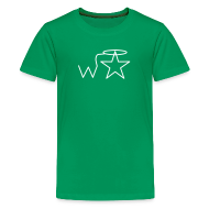 Kids' Shirts ~ Kid's Premium T-Shirt ~ Kids'  White Logo Wranglerstar