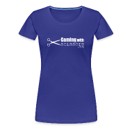 Women's T-Shirts ~ Women's Premium T-Shirt ~ Gaming With Scissors Women