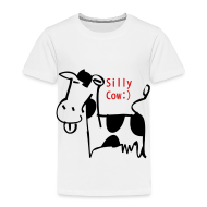 Baby & Toddler Shirts ~ Toddler Premium T-Shirt ~ silly cow