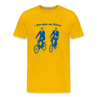 T-Shirts ~ Men's Premium T-Shirt ~ Swedes On Bikes Men's T-Shirt